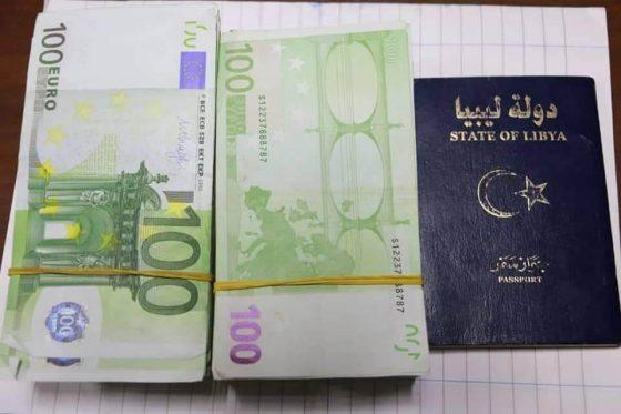 إحباط عملية تهريب مبلغ 80 ألف يورو