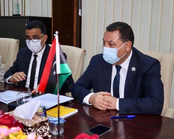 لقاء مدير عام مصلحة الجمارك بسفير إيطاليا لدى ليبيا