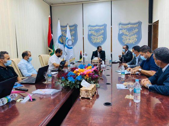 اجتماع بخصوص  تبادل المعلومات بين مصلحة الجمارك ومصرف ليبيا المركزي